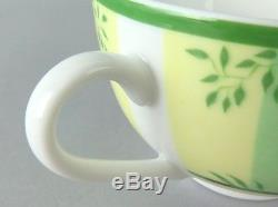 100% Authentic HERMES AFRICA Porcelain Green Tea Cup & Saucer Set