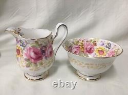 (11 Pieces) Royal Albert'Serena' BRUNCH SET (Tea cups/cake plate/sugar/creamer)