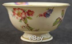 12 Pc. Vintage Castleton Sunny Brooke Porcelain Footed Teacup Saucer Set