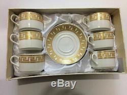 12 pcs Gold Coffee Tea Cups & Saucers Set With Gift Box Luxury Style Ideal
