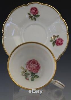 18 VTG Hutschereuther Bavaria Dundee Pink Rose Porcelain Tea Cup & Saucer Set