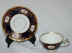 23 Piece Reichenbach Eight Cup Coffee/Tea Set Echt Cobalt Gold Filagree / Gild
