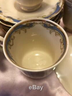 28pc 1960's Federal Shape Carvel Syracuse China Tea Cup & Saucer Set