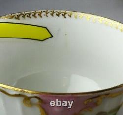 6 Limoges France Antique Porcelain Tea Cup & Saucer Sets
