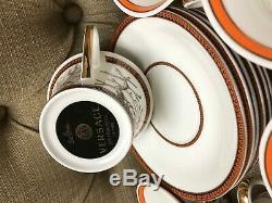 6 Versace Tea Cup Set of 6 WithCard Rosenthal Led Etoiles De La Mer Rare White Mix