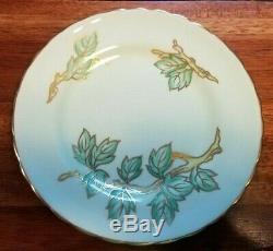 ANTIQUE c. 1900 TUSCAN FINE ENGLISH BONE CHINA TEA CUP & DESSERT SET. BUY IT NOW