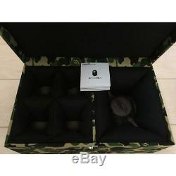 A BATHING APE Green Camo Tea cup, Pot Box Set with Tea Pot Japanese tea ceremony