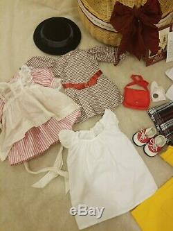 American Girl Pleasant Company Doll Lot Molly Holiday Tea cup set Clothes