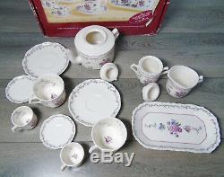 American Girl Pleasant Company SAMANTHA TEA SET 15PC Teapot Tea Cups Sugar Cream