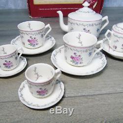 American Girl Pleasant Company SAMANTHA TEA SET 20pc Teapot Tea Cups Sugar Cream