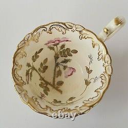 Antique Coalport Set of 4 Coffee Tea Cups and Saucers 3/128 Artist J Pattern