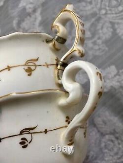 Antique Coalport Tea Cups True Trios Cake Plates Celeste Blue Gold Tea Set X22
