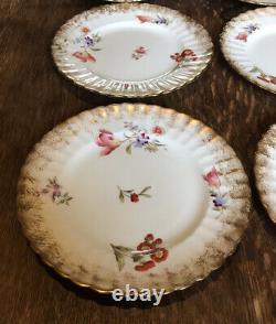 Antique Collingwood Fine China Dresden Sprays 21 Piece Tea Set (Cup & Saucer)
