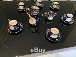 Antique Limoges Reproduction 17pc Tea Cup Coffee set