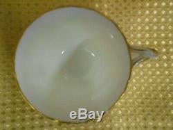 Antique Vintage China Tea Set Pink Gold Gilt C1880-1900 Entwined Handles