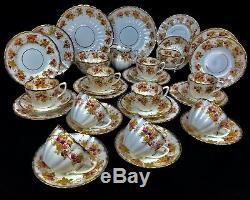 Art Nouveau Tea Set For 10 People / EDNA / Antique Trio / Cup And Saucer Floral