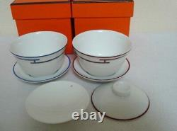 Authentic Hermes Rythem 2 Set Asian Tea Cup and Saucer