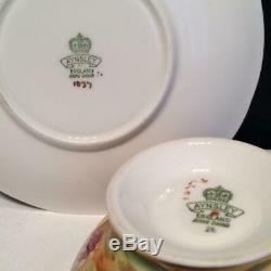 Aynsley Orchard Gold Teacup & Saucer Set Signed N. Brunt D. Jones E3940