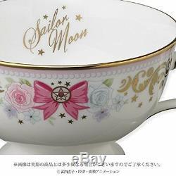 BANDAI Tea Cup saucer set Sailor Moon with Noritake Collaboration from Japan F/S