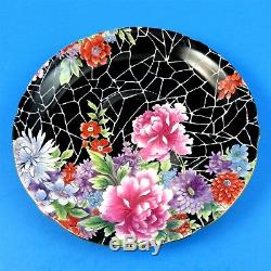 Black Crackle Chintz Shelley Tea Cup and Saucer Set