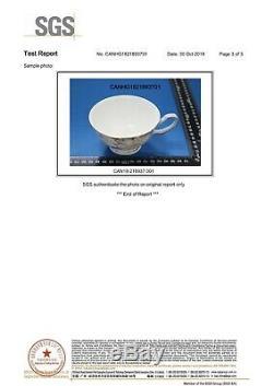 Bone China 15 Piece Polka Rose Coffee Tea Set Cup Teapot Sugar Creamer Pot