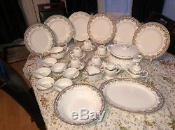 Brand New Ceramic Dinner Set With Bowls Spoons Tea Cup Plates