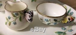 Butterfly Handle Antique Minton Paragon Aynsley China Tray Set Teacup