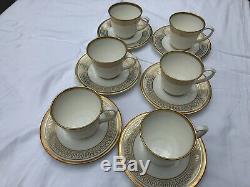 CARTIER La Maison Des Must Set of 6 Tea Cup & Saucer