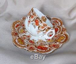 C. 1891 RARE! Pre-Paragon Star Personal H. & J. Aynsley Mark TRIO Tea cup Set