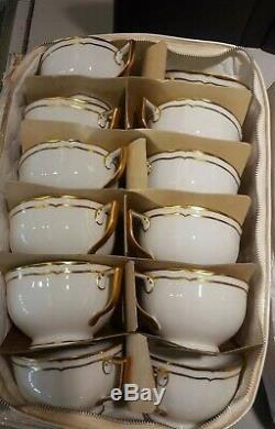 Ceralene A. Raynaud Limoges France Marie Antoinette Teacup & Saucer Set Of 16