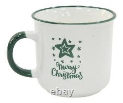 Christmas Design Mugs Set Of 4 Christmas Designs Tree Star Merry Christmas
