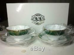 Club 33 Limited set of 2 Noritake special tea cup GreenTokyo Disney Land Resort