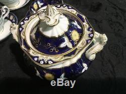 Coalport Tea Set Cobalt Blue Tea Cups and Saucers 24 Pieces
