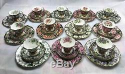 Complete Set Royal Albert Provincial flowers Tea Cup & Saucer & Plate 36 Pieces