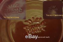 Complete set Silver overlaid Italian Art Deco Richard Ginori tea saucer cup pot
