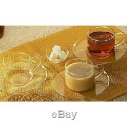 Deli, Stacking Cups & Saucers White Tea Coffee Cup Saucer Dining 12 pc Set 150ml