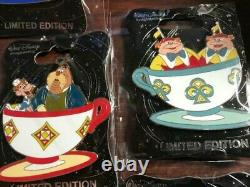 Disney Pin Trading WDI Mad Tea Party Alice In Wonderland Tea Cup set of 10