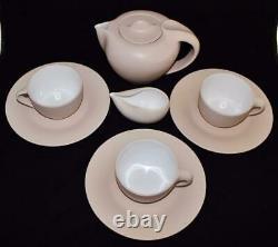 Elsa Peretti Tiffany Terra Cotta Thumbprint 8 Piece Tea Set Pot Plates Cup Cream