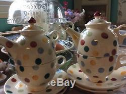 Emma bridgewater 1cup teapot! Saucer! Tea Plate! £80.00Each Set