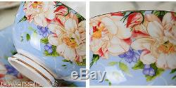 European Style Simple Fashion Blue Ceramics Coffee Cup/Tea Pot 16 Pieces Set G-6