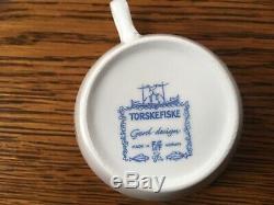 Figgjo torskefiske tea plate and cup set of 12 never used