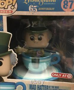 Funko Disney Rides Tea Cup Set #54 Alice #80 Cheshire Wondercon #87 Mad Hatter