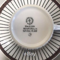 GUSTAVSBERG SPISA RIBB STIG LINDBERG Set of 5 Tea Cups Coffee Mid Century MCM