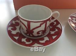 Genuine Hermes Set of 2 X Balcon du Guadalquivir tea cups and saucers
