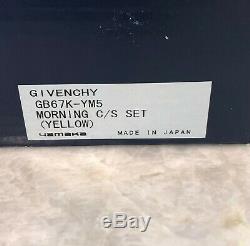 Givenchy Porcelain Morning Yellow Tulip Gold Rim Teacup & Saucer Set of 5 NEW