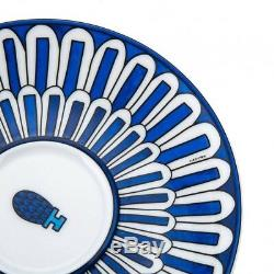 HERMES Bleu DAilleurs Tea Cup & Saucer 200ML 030016P White Blue 2 Piece Set New