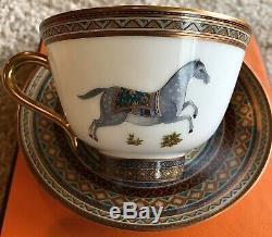 HERMES Cheval DOrient Teacup & Saucer Set BRAND NEW