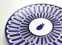 HERMES Porcelain Tea Cup Saucer Bleus D'Ailleurs Blue Tableware set Ornament New