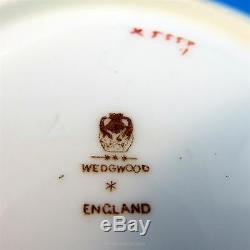 Handpainted Rose & Cobalt Border Wedgwood Tea Cup and Saucer Set