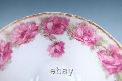 Haviland Limoges Drop Rose Tea Cup & Saucer Set Porcelain Pink Schleiger 55 #2